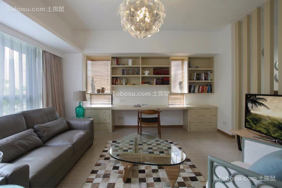 100平简约风格三居室装修效果图