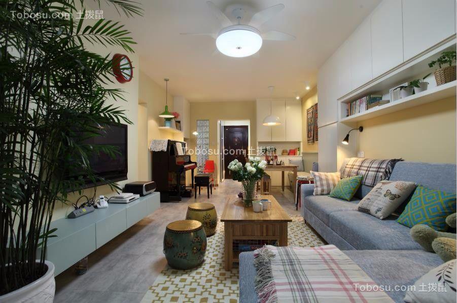 90平简约风格两居室装修效果图