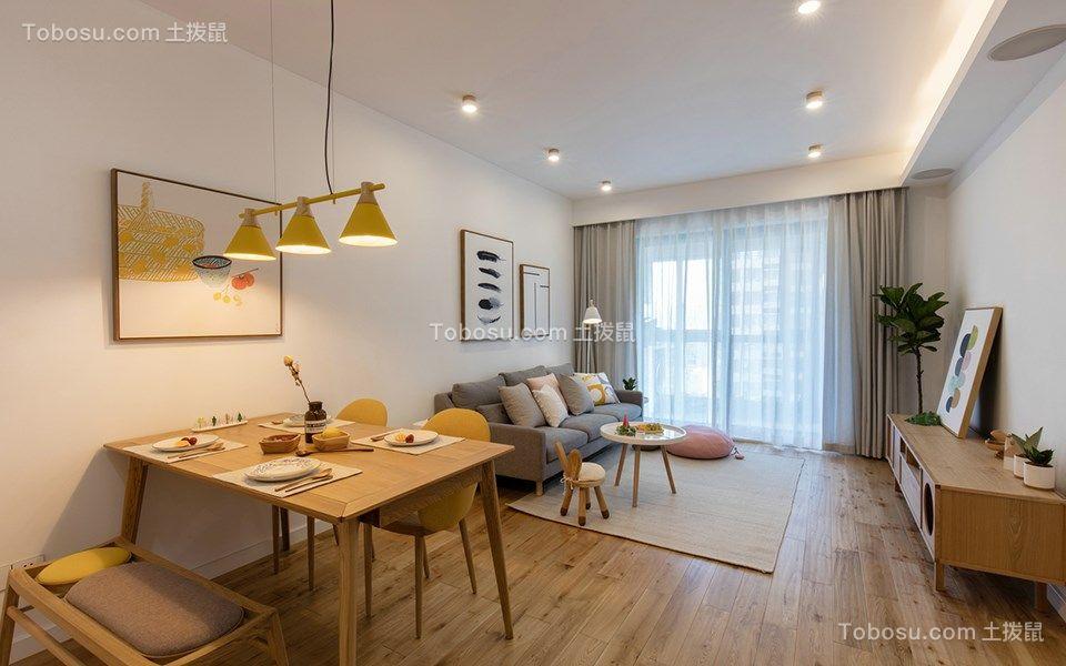 76平北欧风格两居室装修效果图