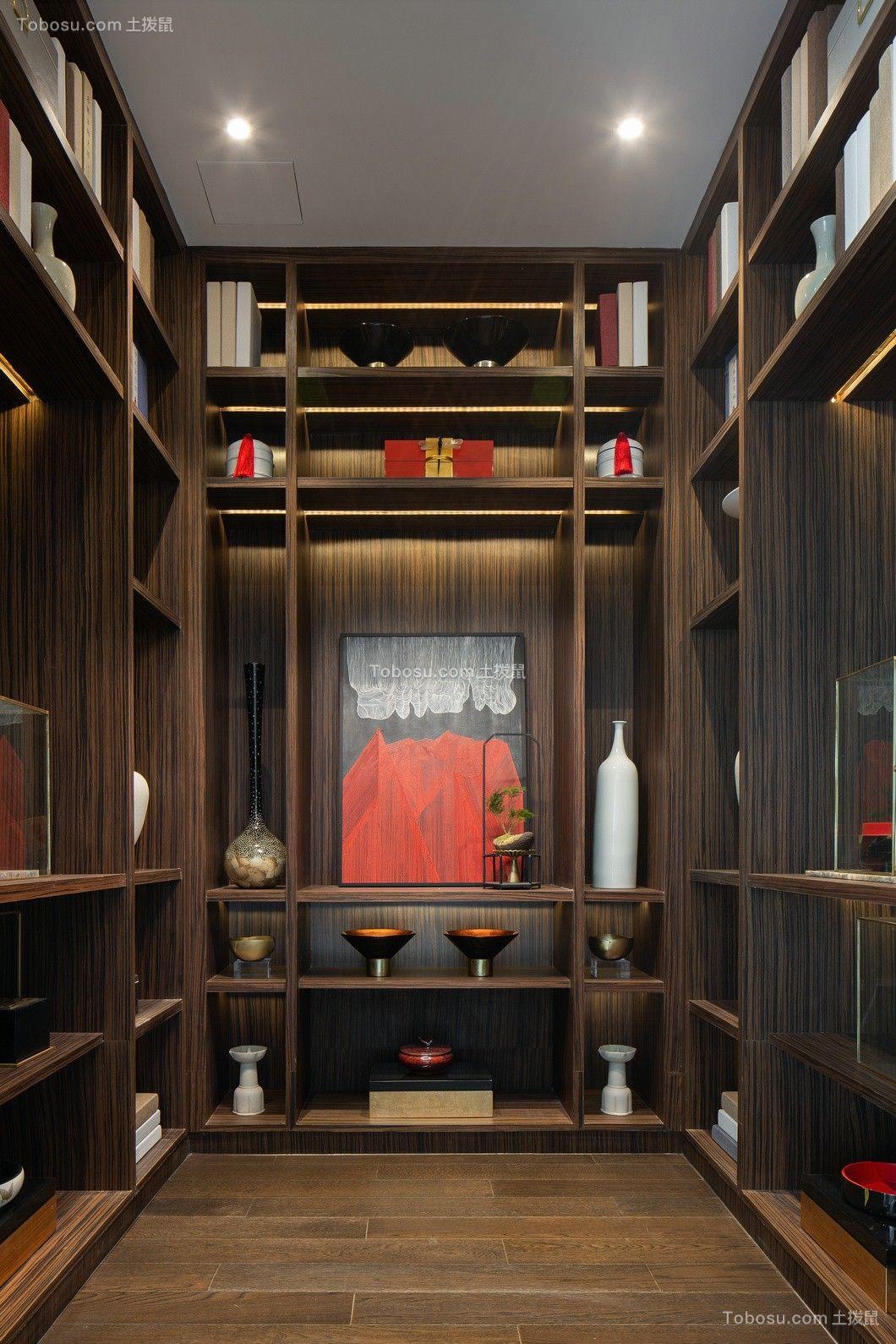书房白色吊顶中式风格装饰效果图