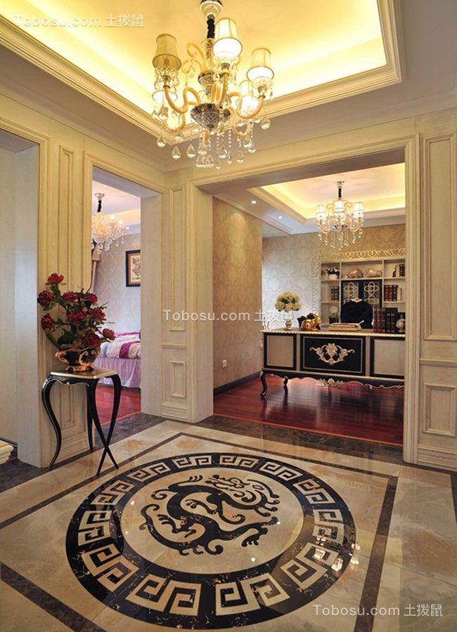 玄关白色吊顶欧式风格装饰设计图片
