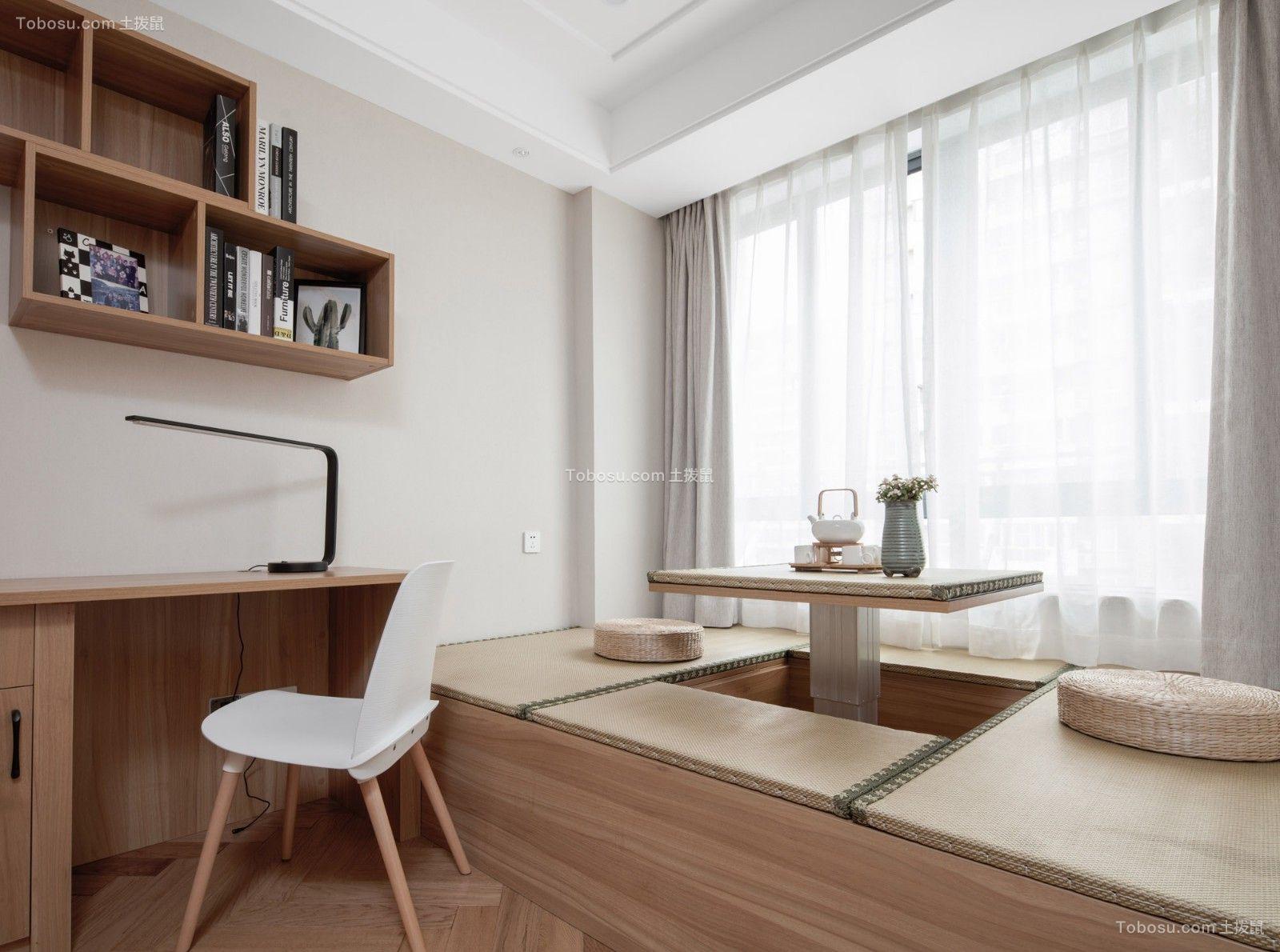 书房米色榻榻米北欧风格装修设计图片