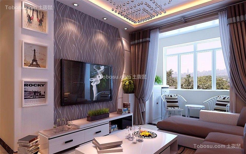 97平现代简约风格两居室装修效果图图片
