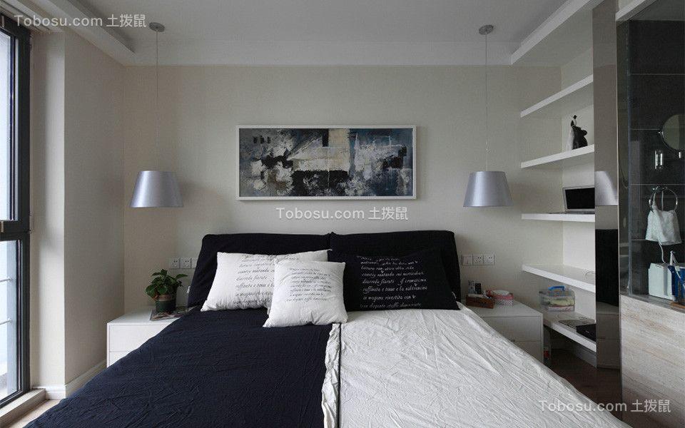 卧室米色背景墙混搭风格装饰图片