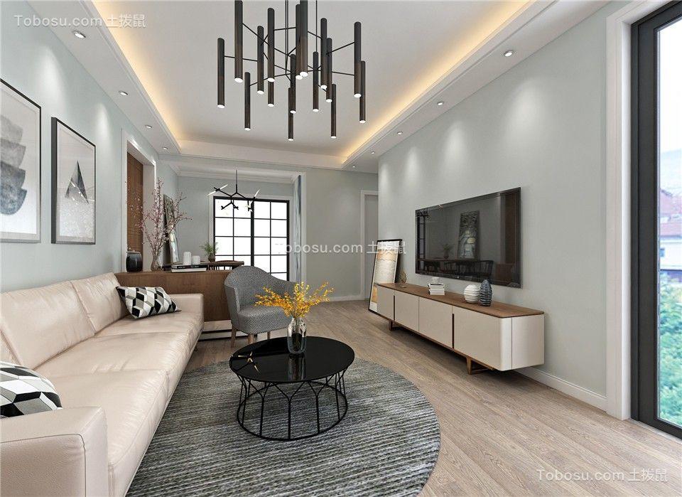 86平北欧风格两居室装修效果图