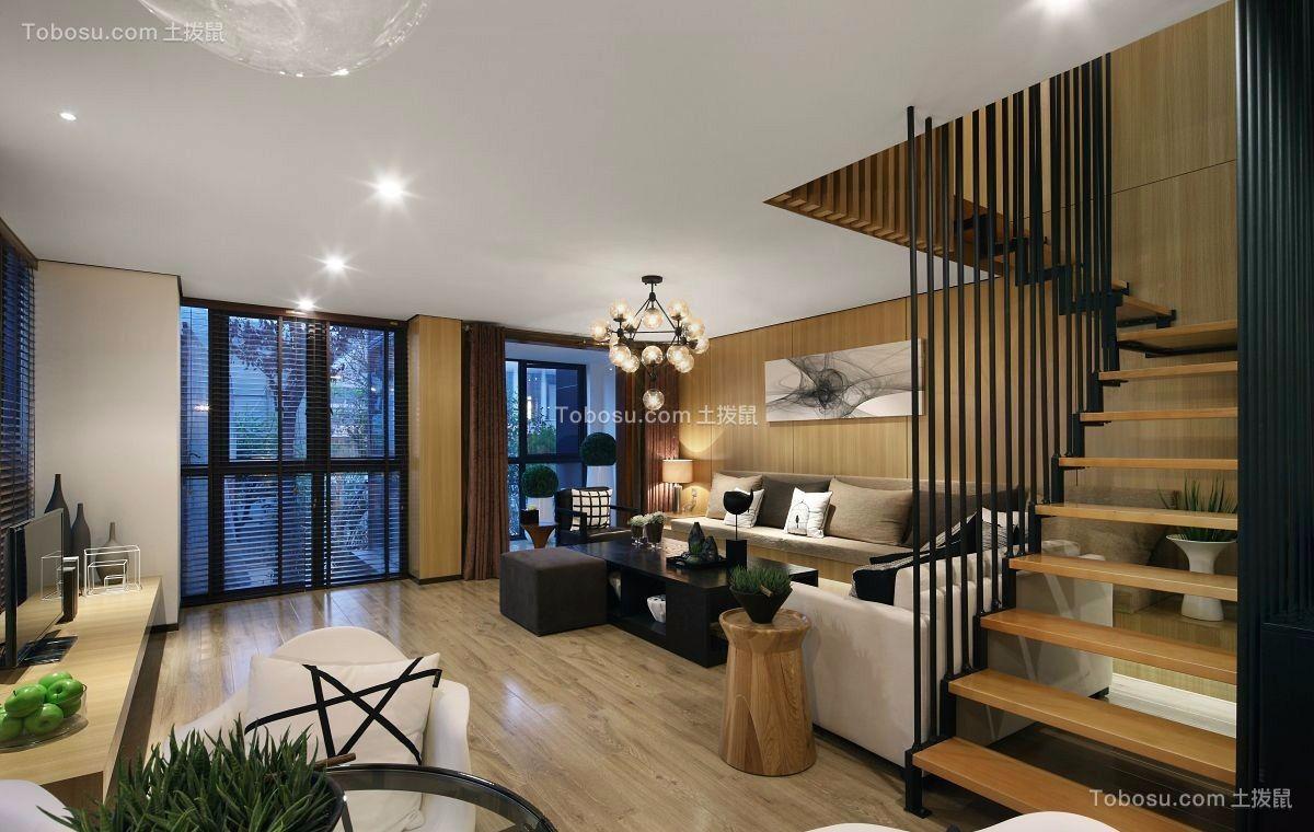 117平现代简约风格三居室装修效果图