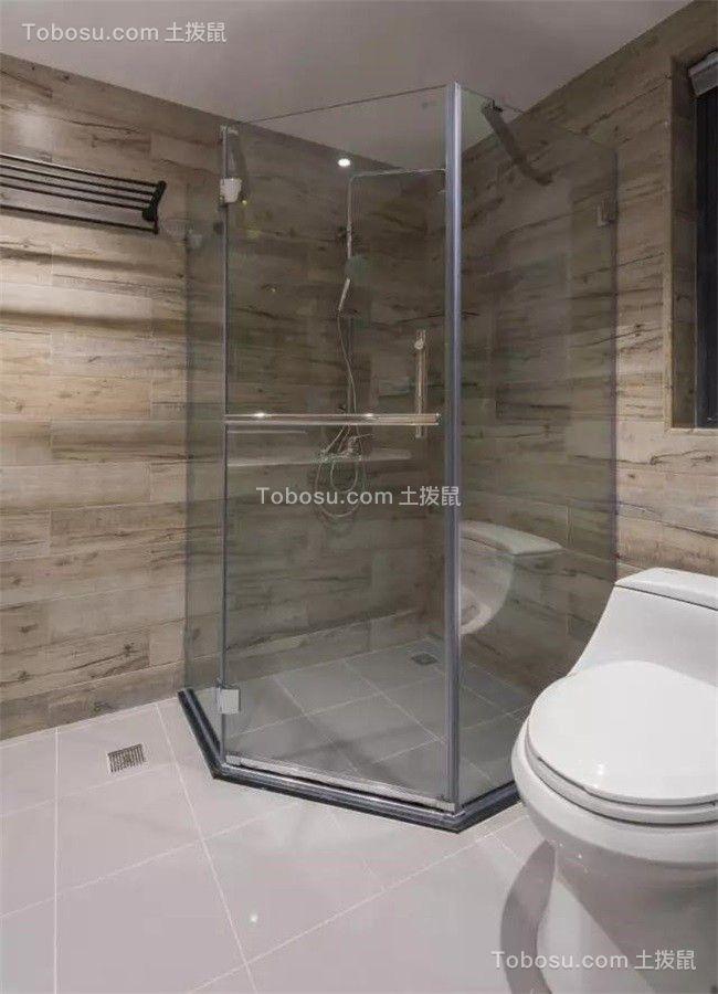 卫生间米色地砖北欧风格装饰效果图