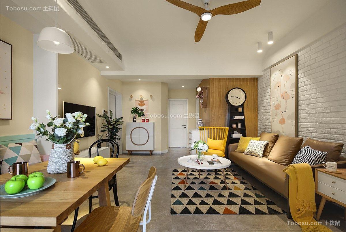 114平北欧风格两居室装修效果图