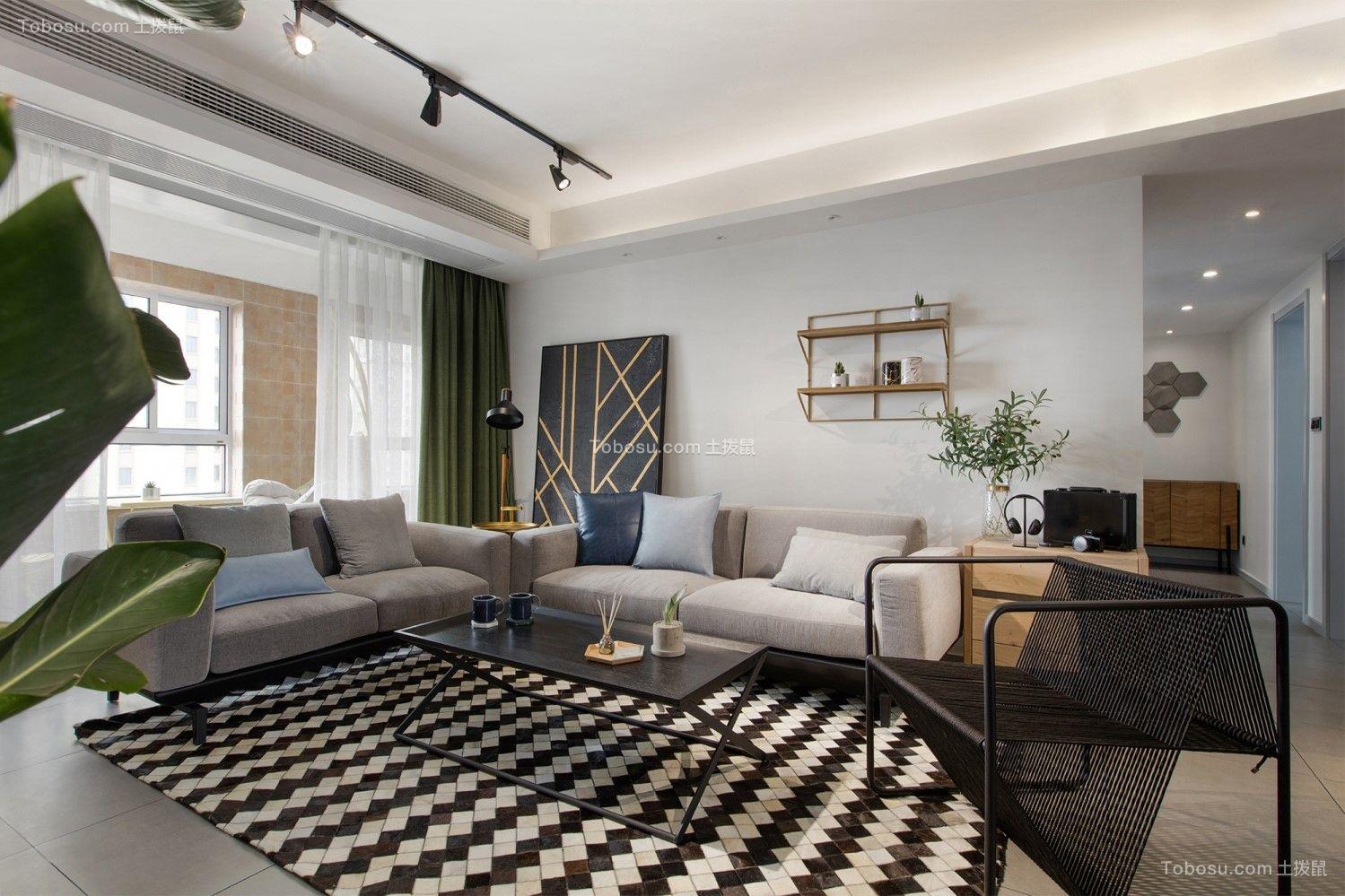 116平北欧风格两居室装修效果图