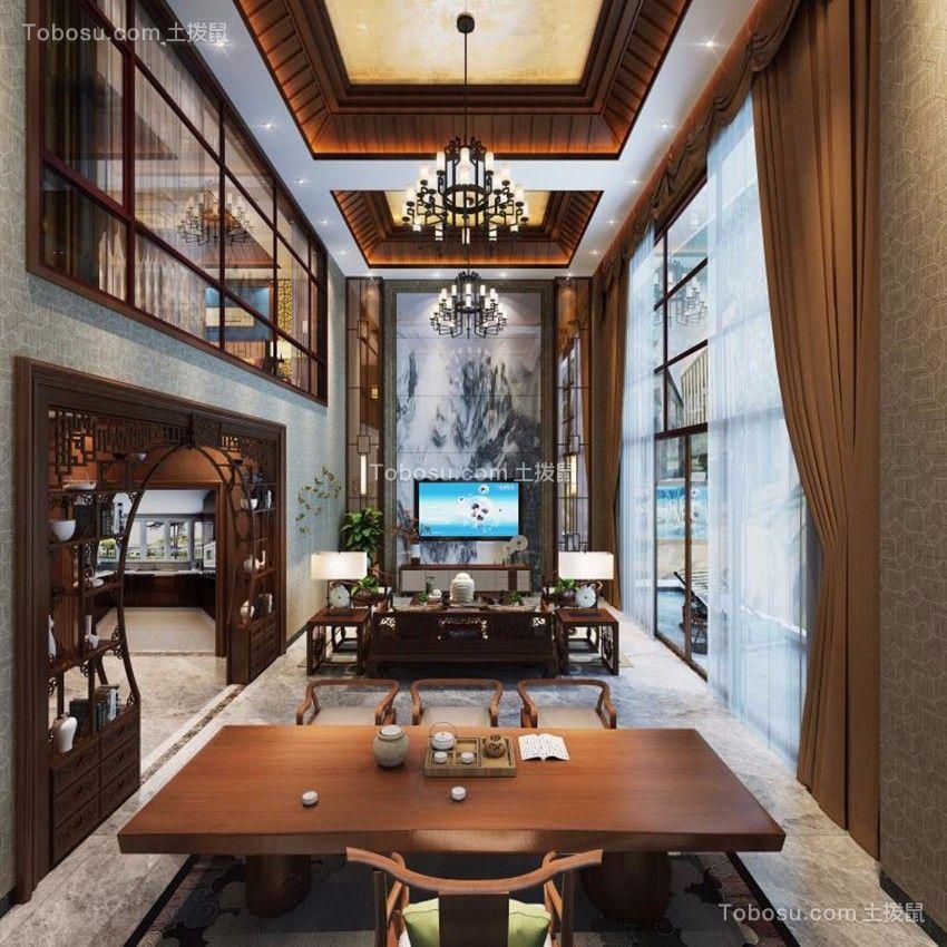 270平新中式风格别墅装修效果图