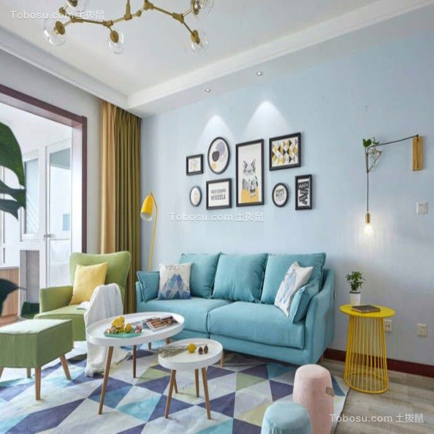 2019现代欧式客厅装修设计 2019现代欧式照片墙装修效果图大全