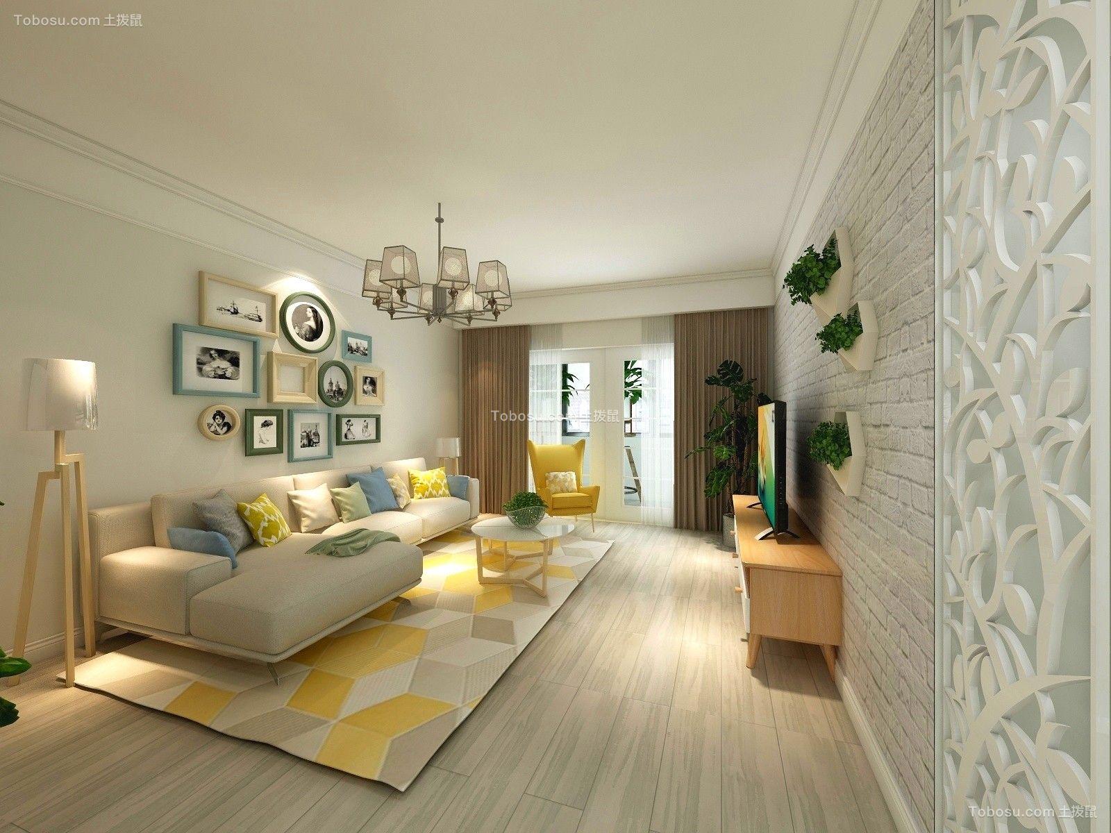 130平混搭风格三居室装修效果图图片
