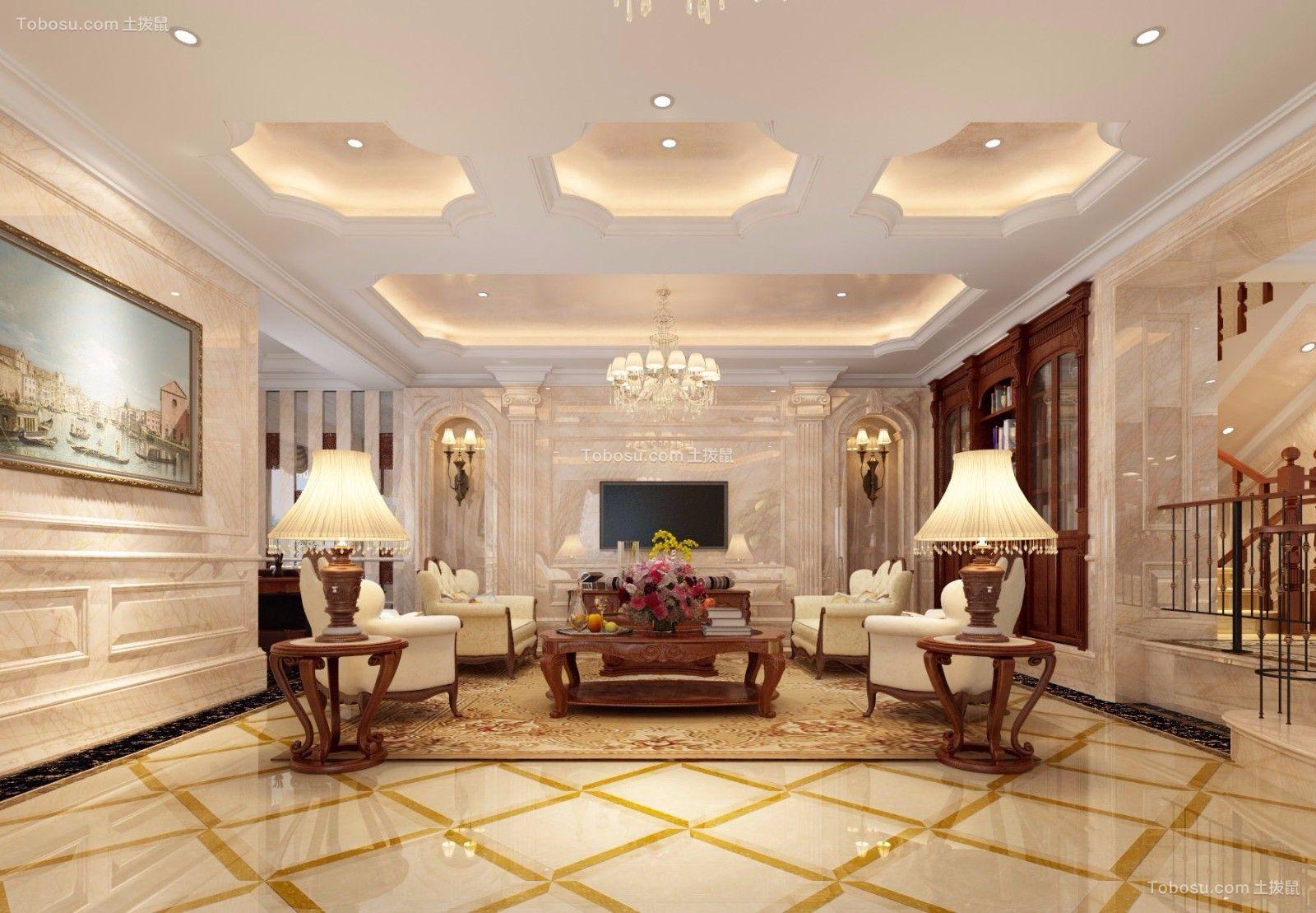 200平欧式风格三居室装修效果图图片