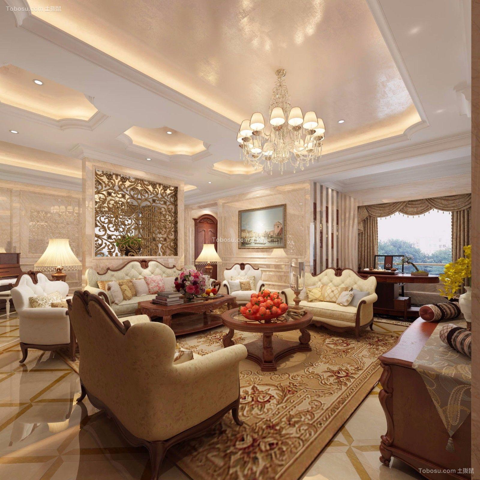 东龙壹湾500平米中式装修案例