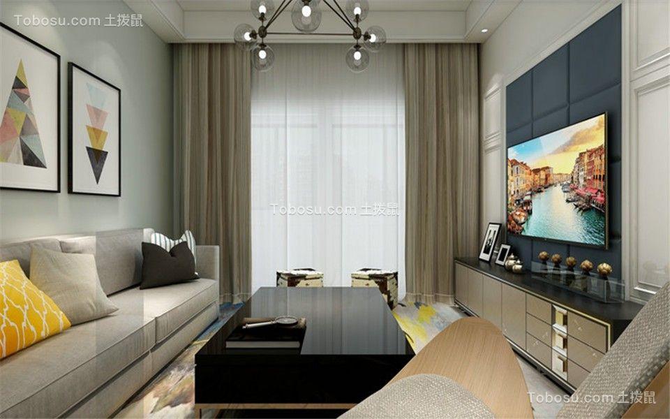72平现代简约风格两居室装修效果图
