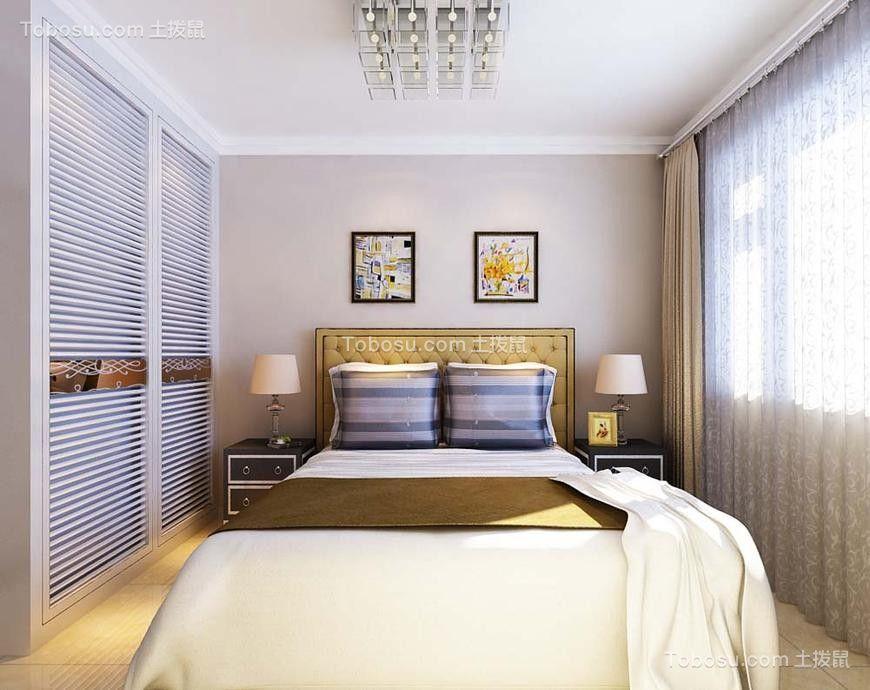 卧室白色衣柜欧式风格装修效果图
