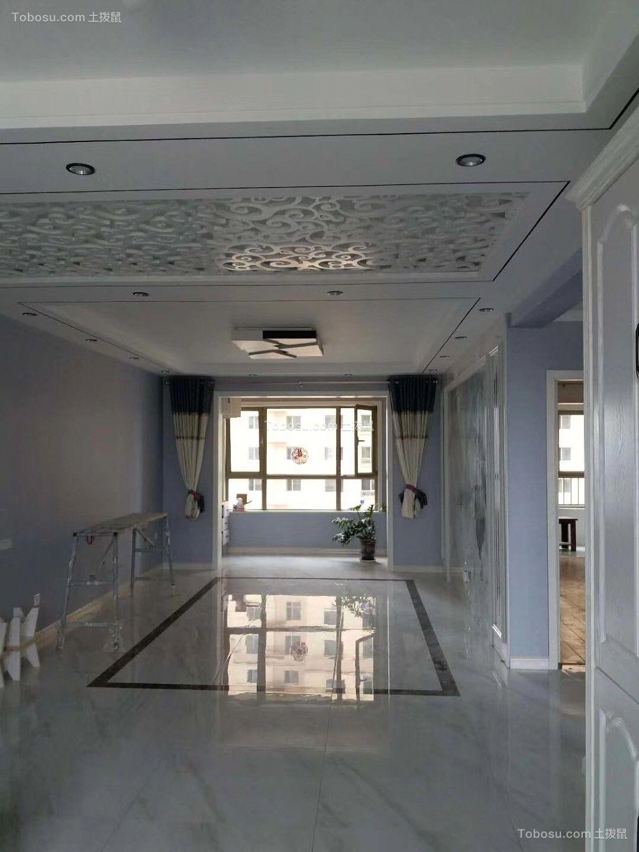 142平现代风格三居室装修效果图