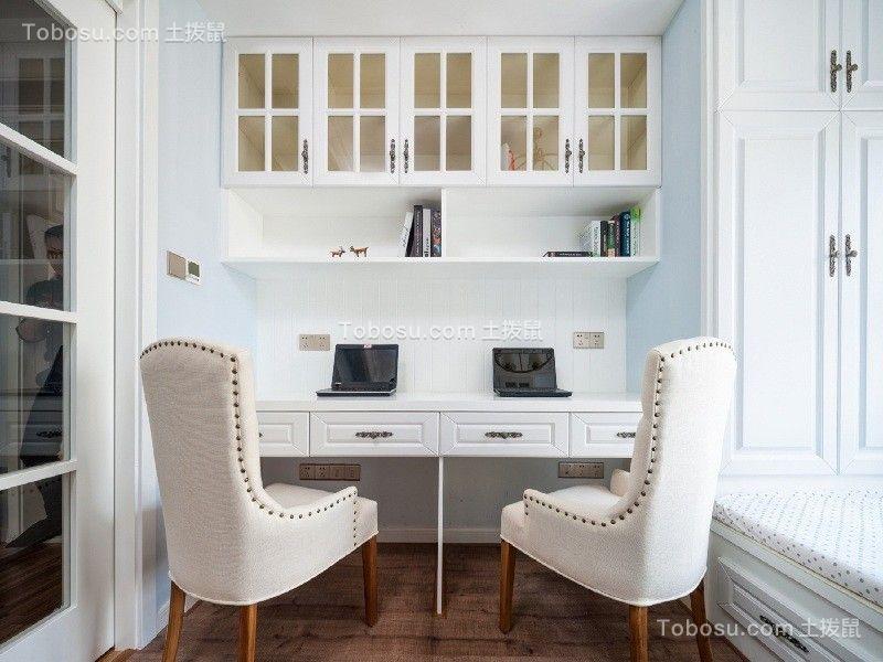 卧室白色书桌美式风格装修设计图片
