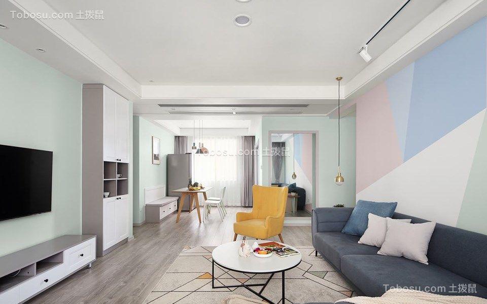 86平北欧风格三居室装修效果图