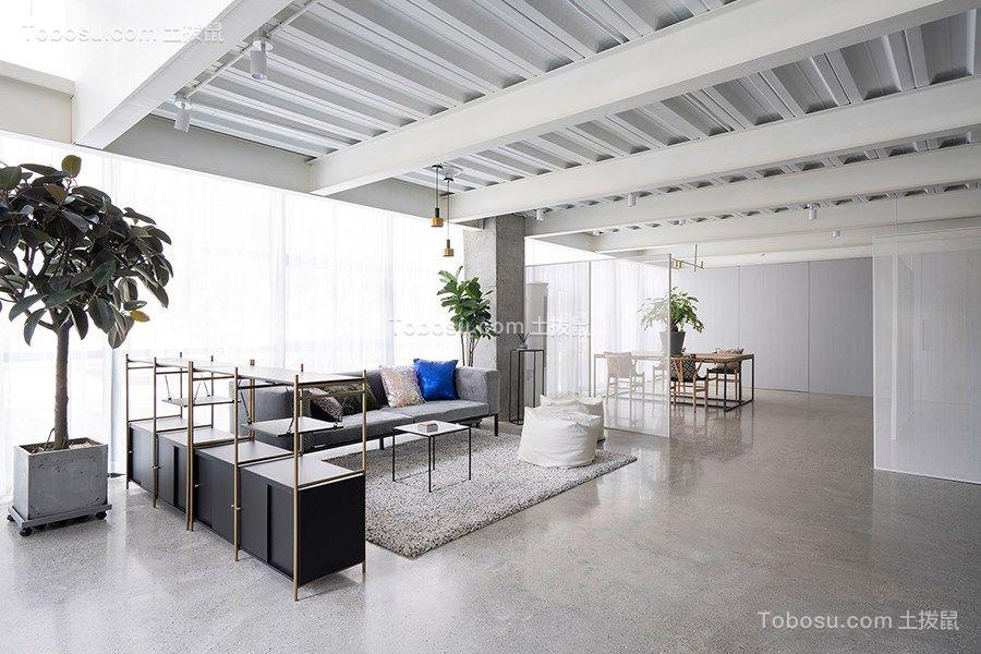200平现代简约风格办公室装修效果图