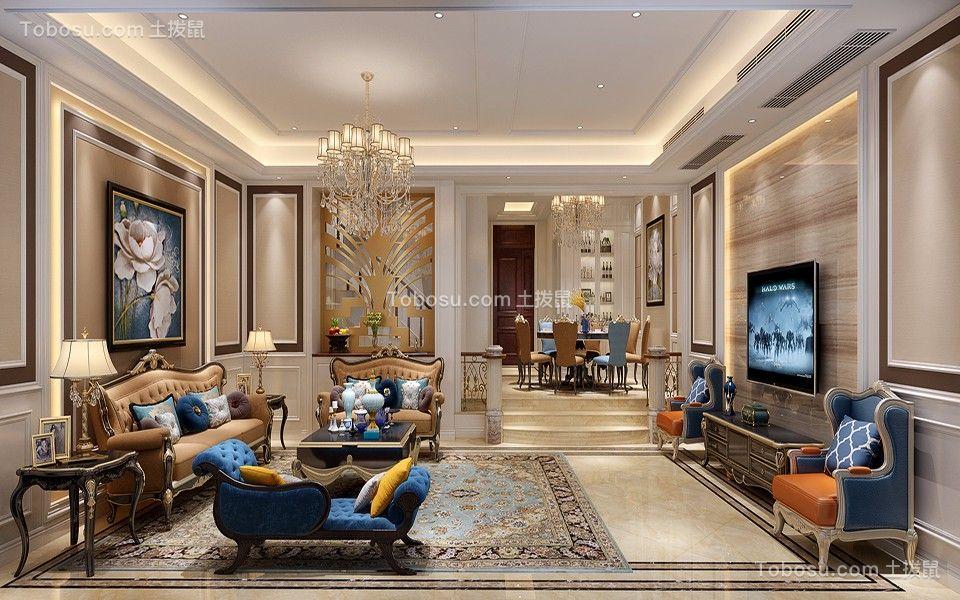 2018美式客厅装修设计 2018美式沙发装修图