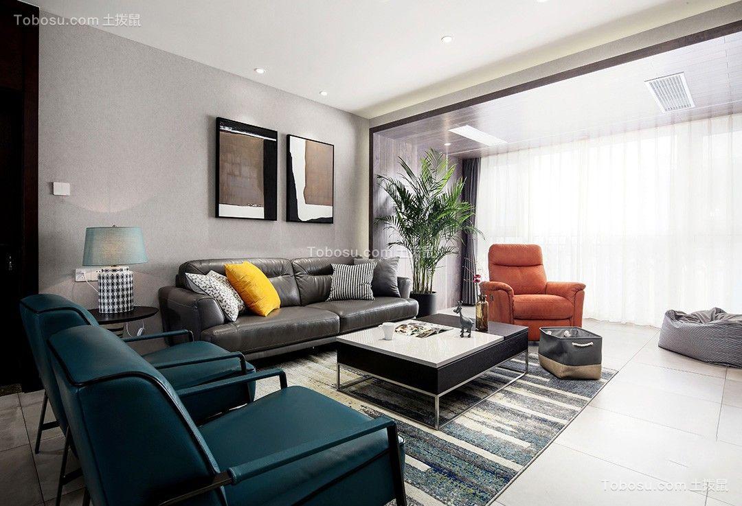 173平现代简约风格三居室装修效果图