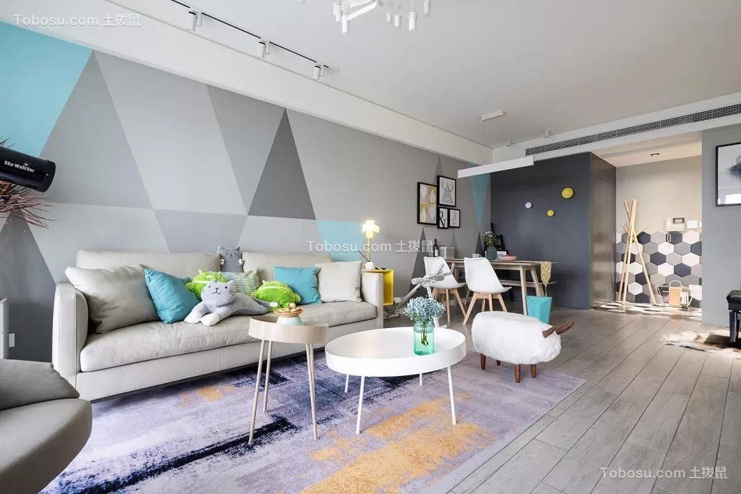 163平北欧风格三居室装修效果图