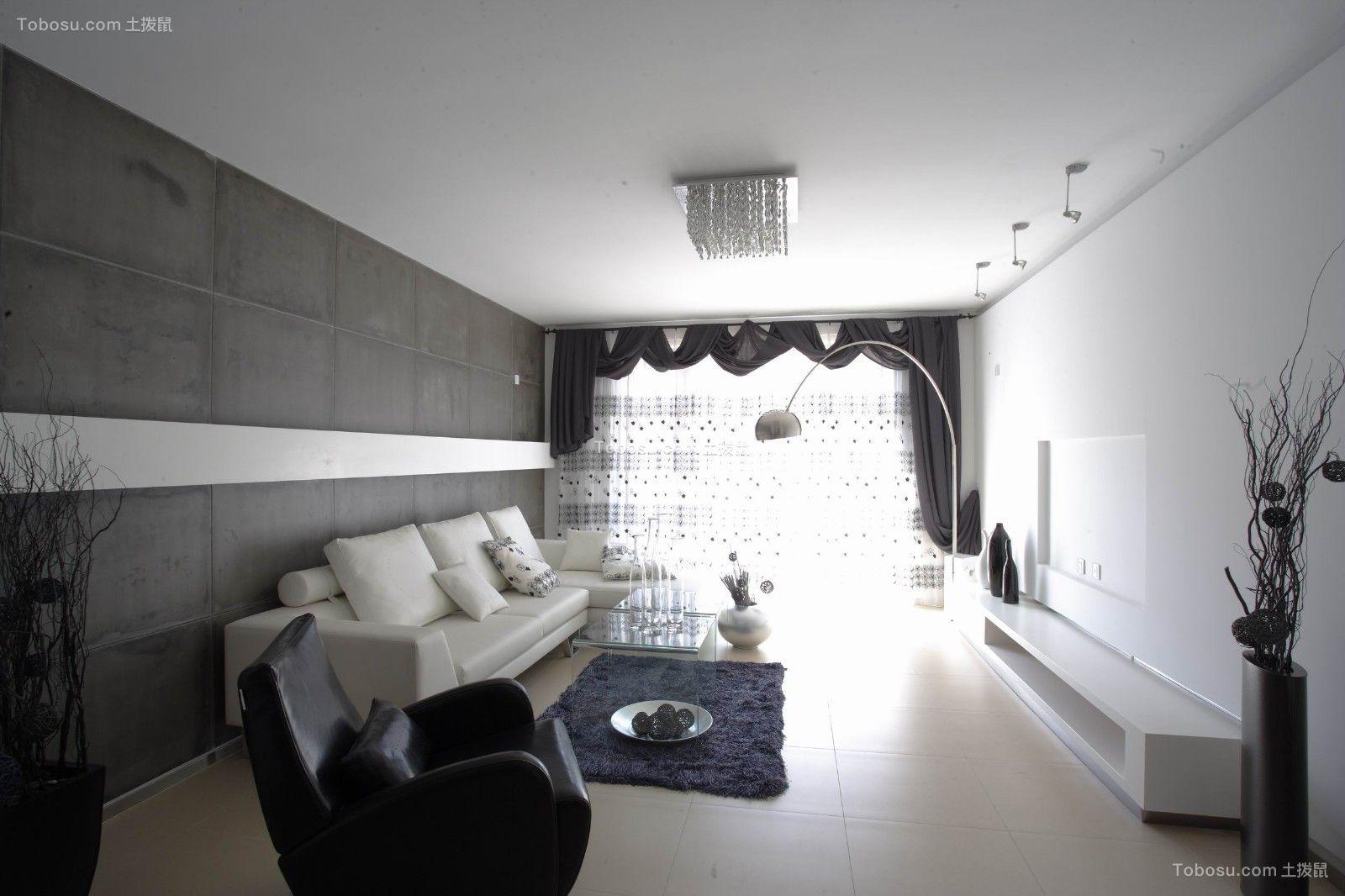 90平现代简约风格套房装修效果图