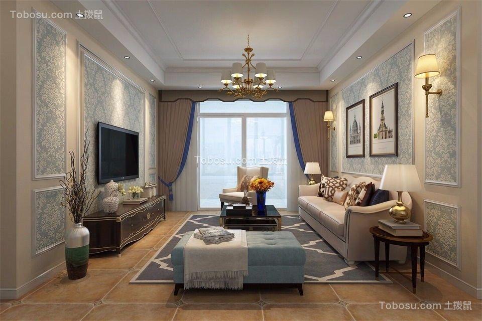 103平简欧风格三居室装修效果图