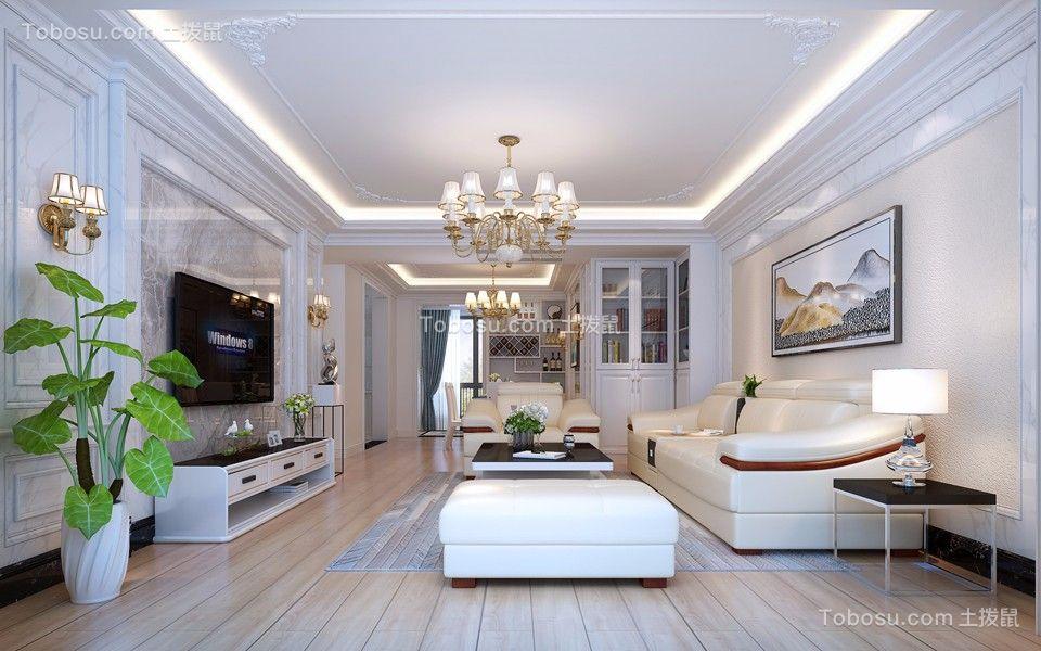 167平简欧风格三居室装修效果图