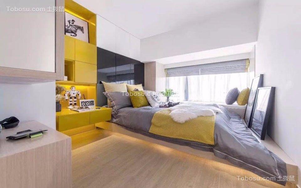 卧室黄色书桌现代风格装饰图片