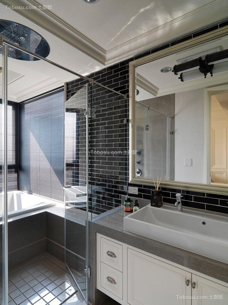 2018美式卫生间装修图片 2018美式洗漱台装饰设计
