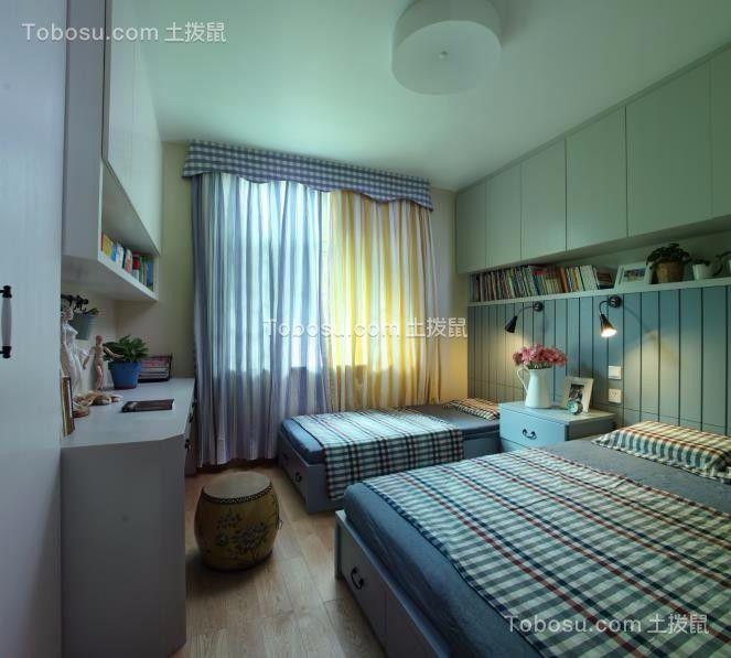 卧室白色书桌简约风格装修图片
