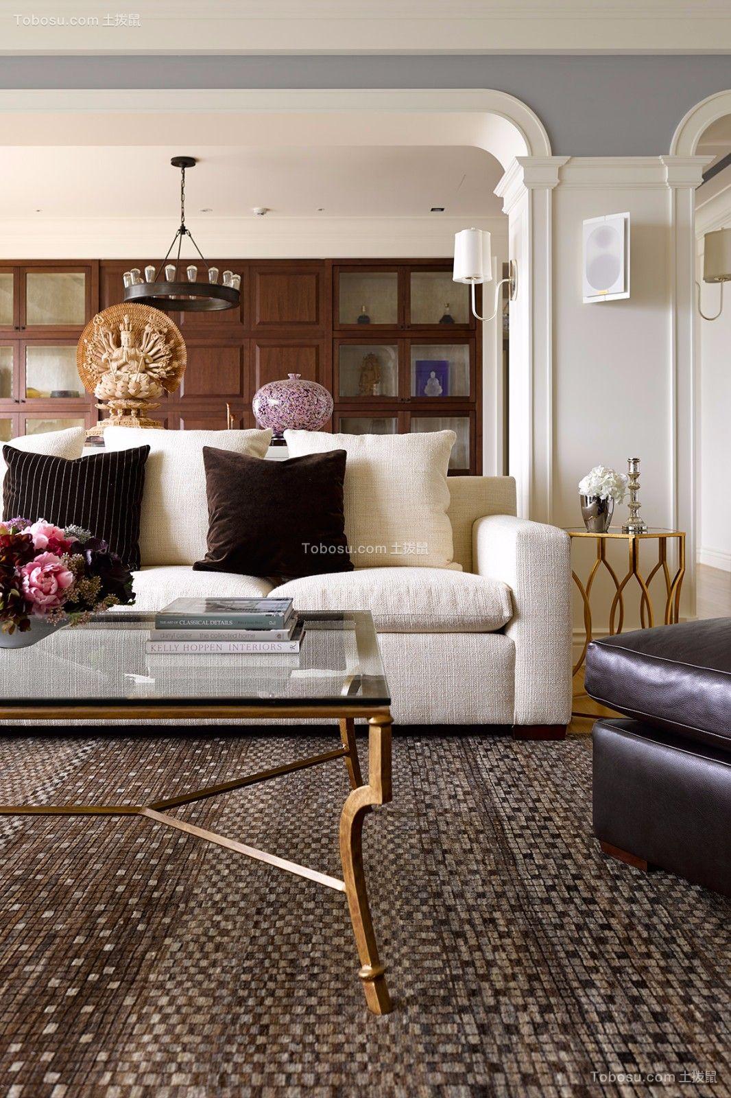 干净客厅美式设计