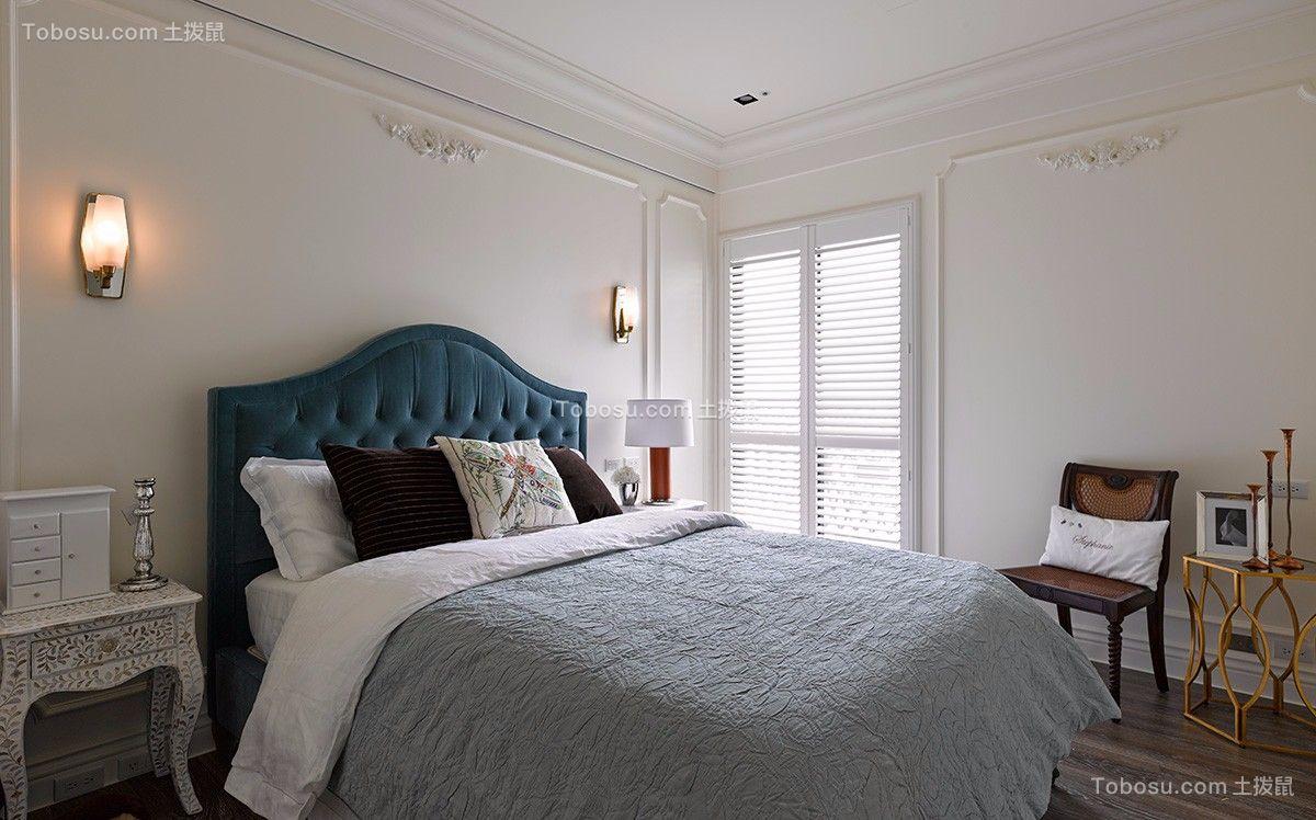 完美蓝色卧室装修案例效果图
