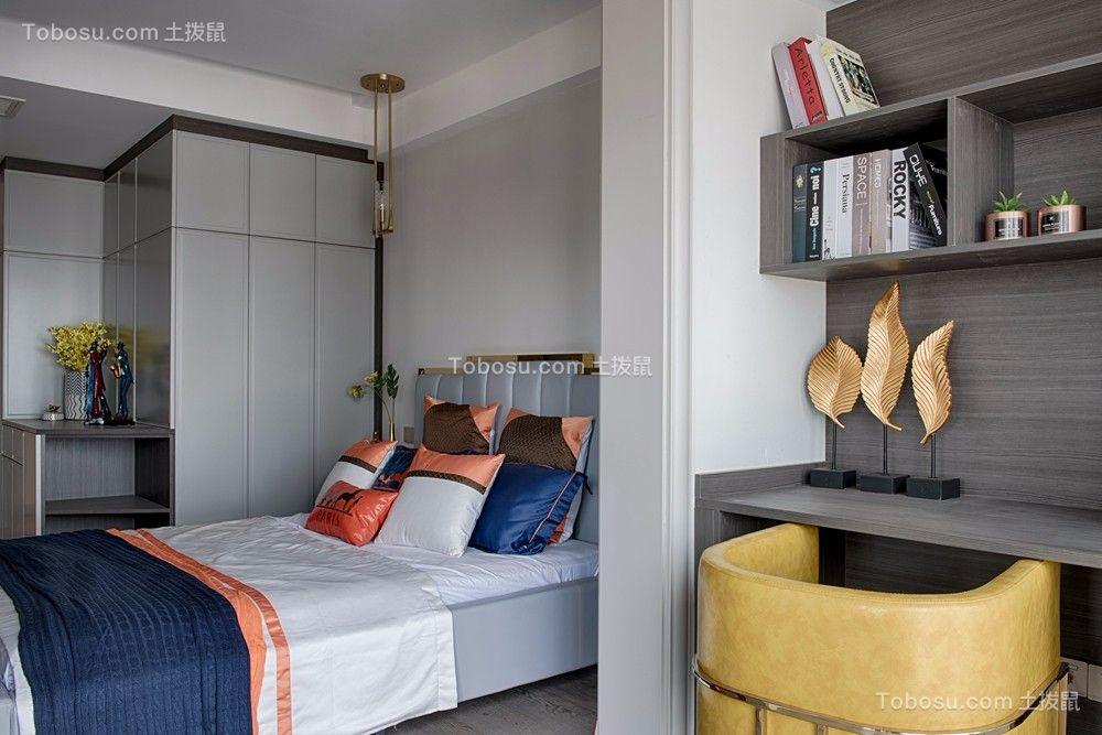 2019现代卧室装修设计图片 2019现代书桌装修图片