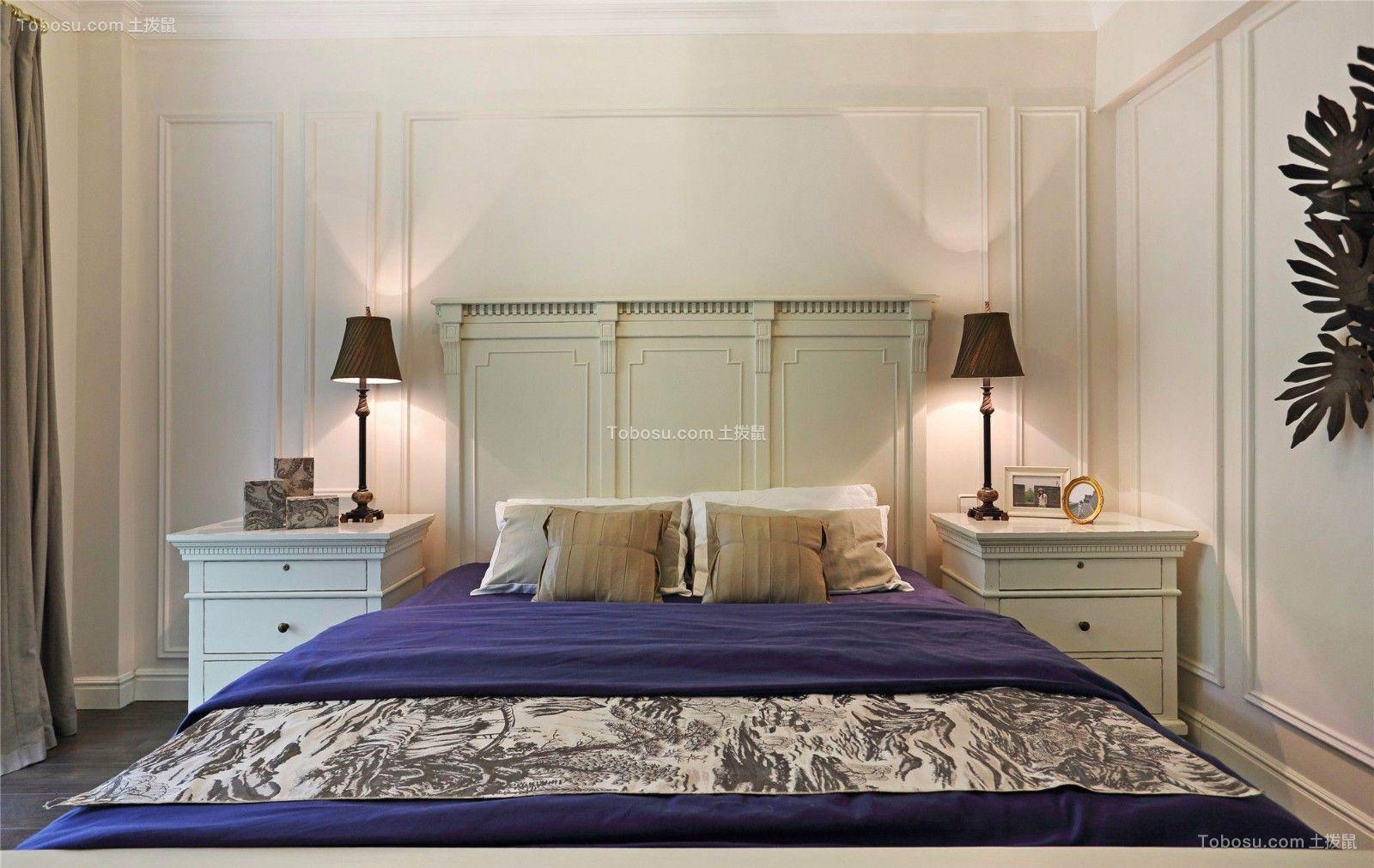 淡雅卧室美式装修案例图片