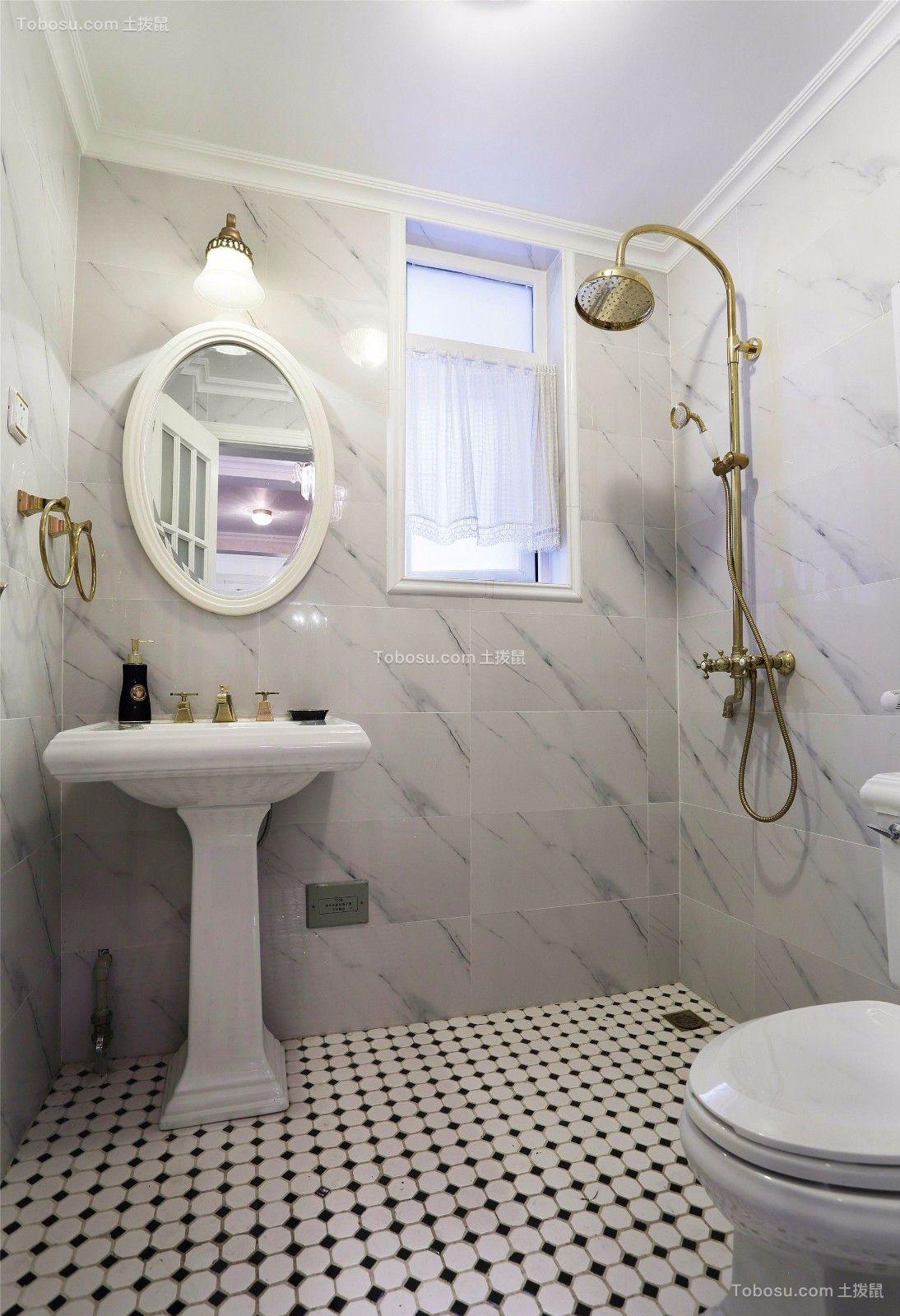 卫生间米色背景墙装饰图片