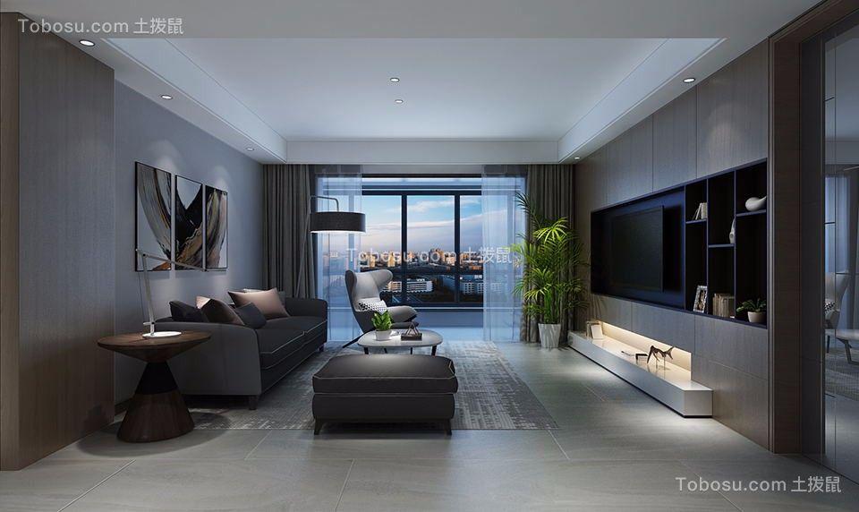 113平后现代风格三居室装修效果图