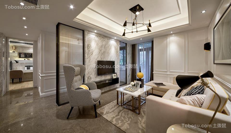 2018简约客厅装修设计 2018简约沙发装修图