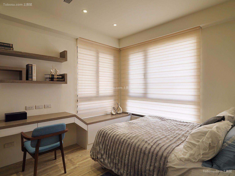 卧室黄色书桌现代风格装修效果图