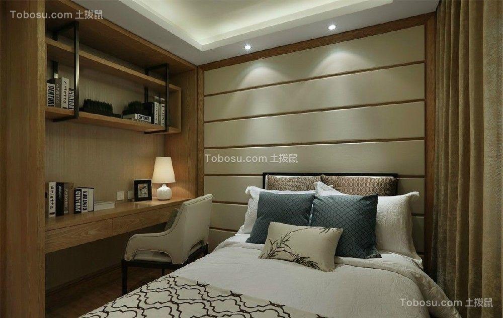 卧室黄色书桌现代风格装潢效果图