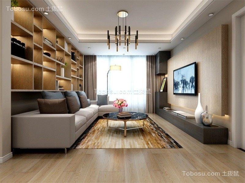 现代简约风格135平两居室新房装修效果图