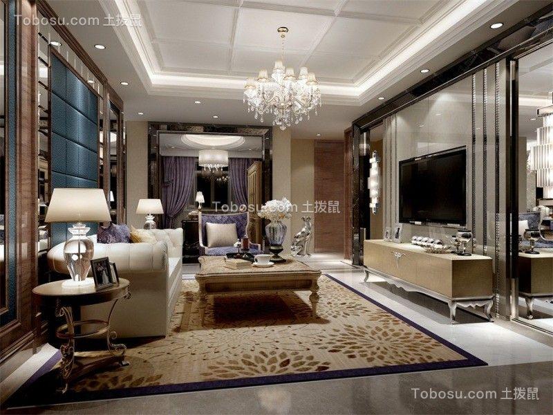 现代风格93平米两室两厅新房装修效果图