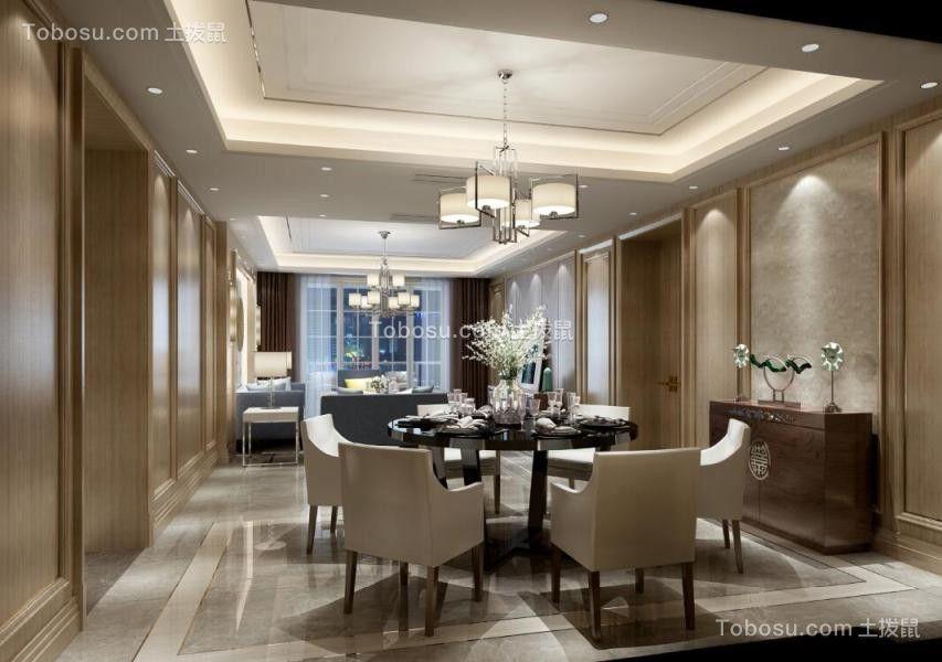 餐厅黑色餐桌混搭风格装潢设计图片