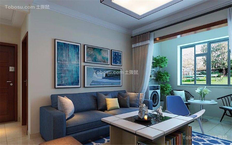 128平地中海风格三居室装修效果图