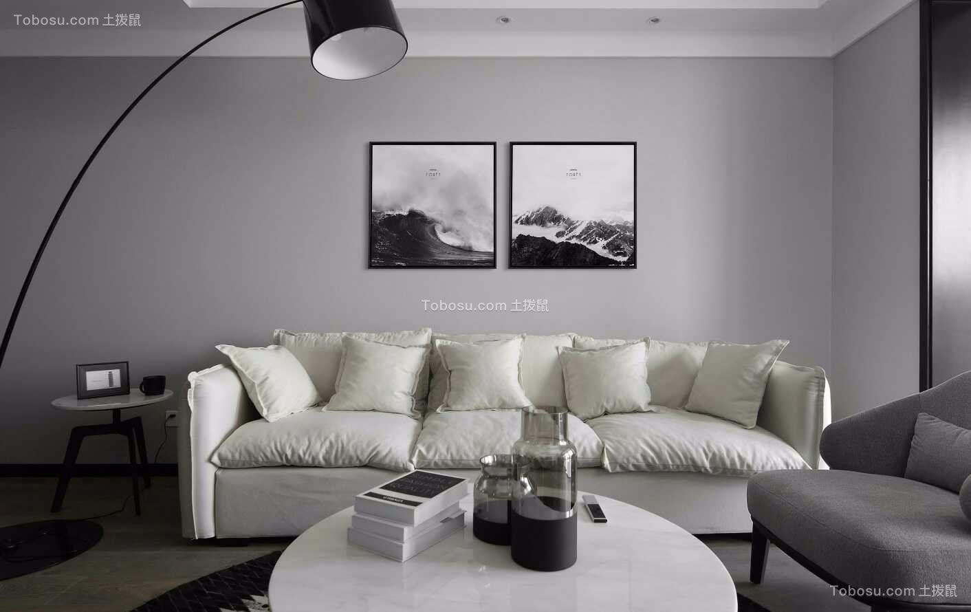 简单风格120平米三室两厅新房装修效果图