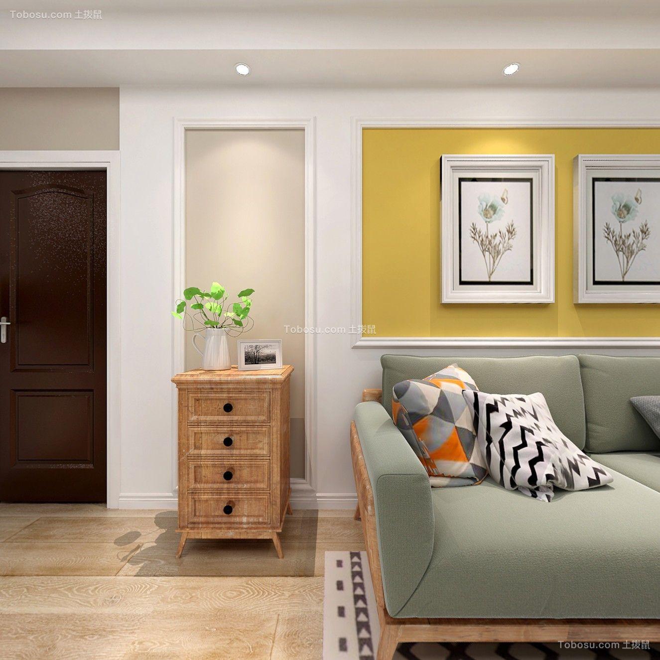 上海新翔公寓80平米美式风格效果图