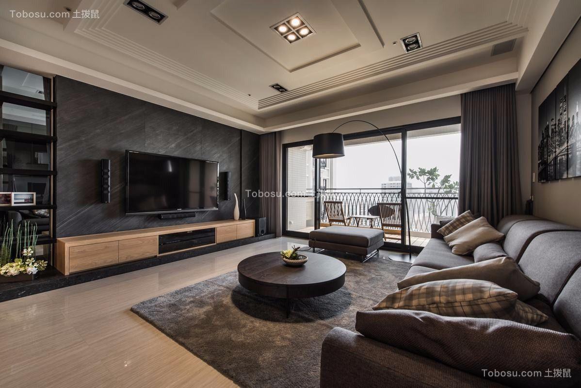 93平现代风格套房装修效果图