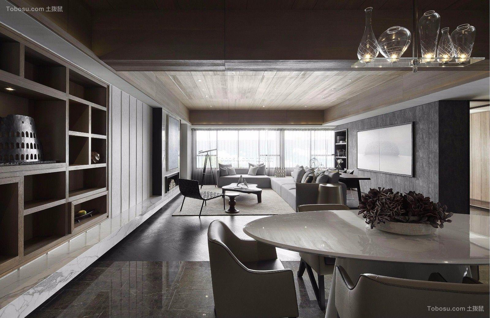 91平现代风格套房装修效果图